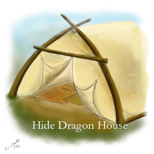 Dragon House made of Hide and Trees